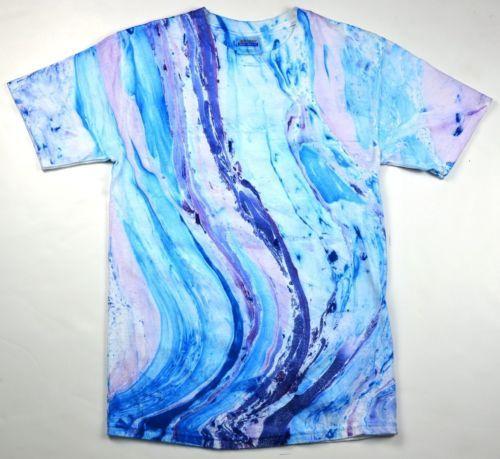 Beautiful Marble Tie Dye T Shirt Multicolor Adult XL | eBay | Tie .
