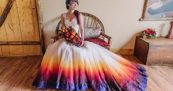Dip Dye Wedding Dress Trend Will Make Your Big Day More Colorf