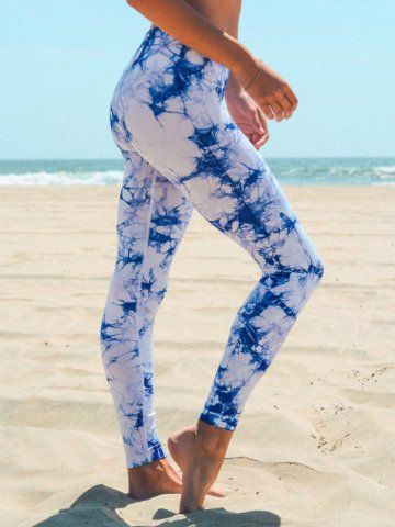 tie dye workout pants | athletic yoga leggings | sassy shortcake .