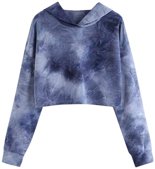 Amazon.com: Vicbovo Cropped Sweatshirt, Women Teen Girls Cute Tie .