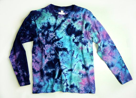 Items similar to Ladies Long Sleeve Tie Dye Shirt, Womens T Shirt .