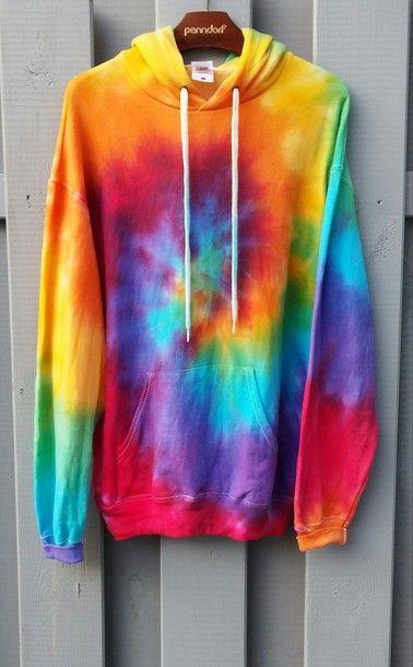 Tie-Dye Hoodie, bunte Farben, hipster, tumblr | Tie dye sweater .