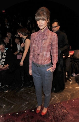 Steal This Fashion Week Outfit Idea: The Tie-front Blouse | Glamo