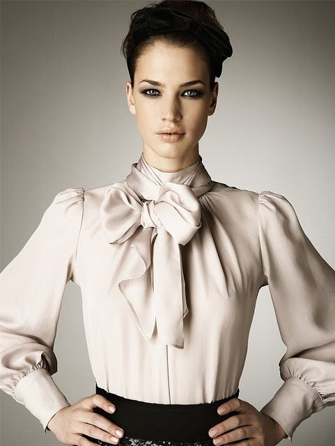 bow blouse / this bow commands obedience … | Bow blouse, Blouse .