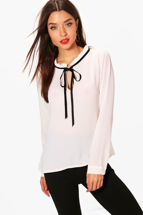 white black tie neck blouse - female wedding photographer clothes .