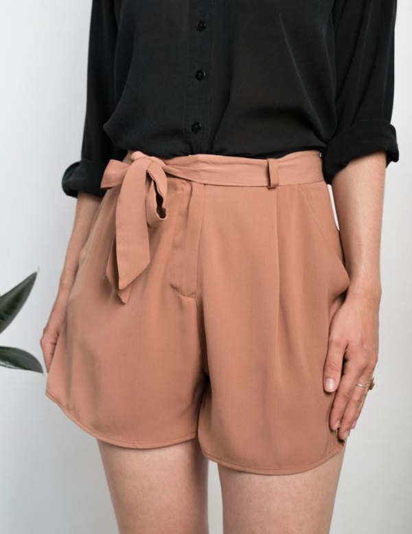 How to Style Tie Shorts: Best 15 Lovely & Attractive Outfit Ideas .