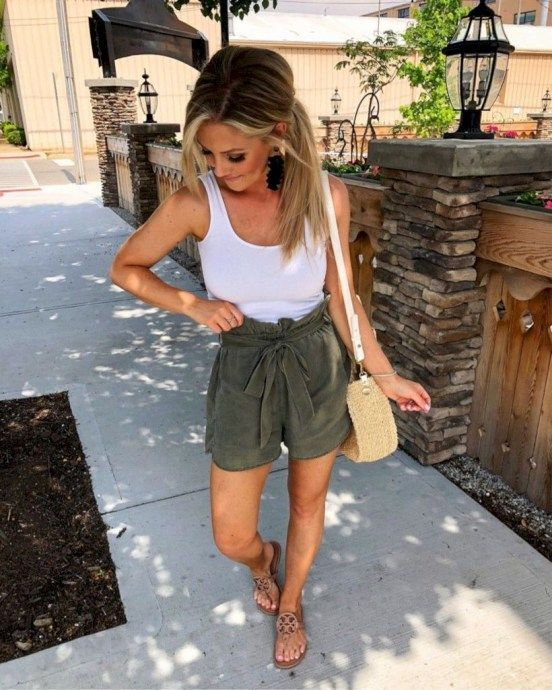 Casual High Waisted Paperbag Shorts Summer in 2020 | Summer .