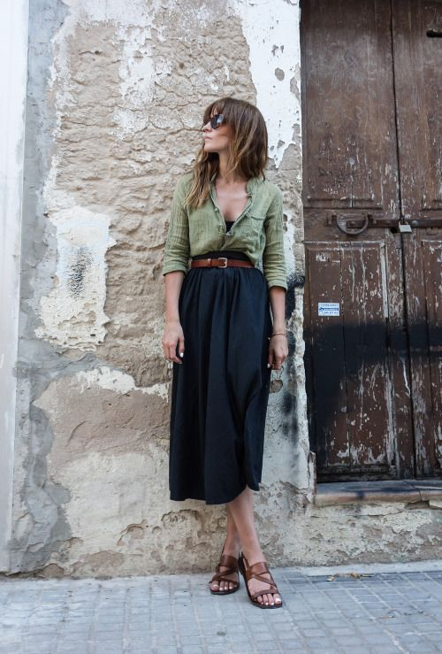 50+ Button Front Shirt Outfit Ideas | Skirt fashion, Fashion, How .