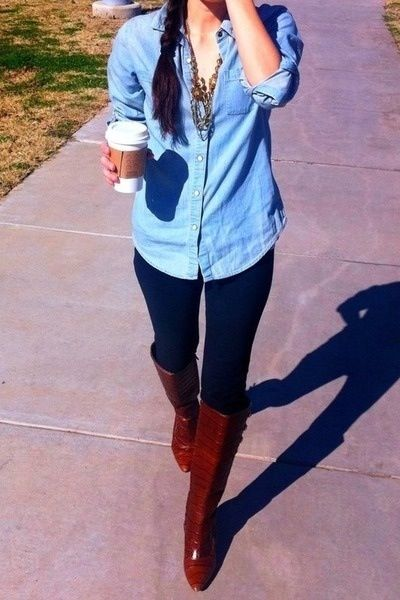 blue leggings outfit | Style, Cute outfi