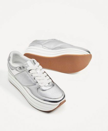 70+ Ideas for sneakers plataforma zara #sneakers | Silver sneakers .