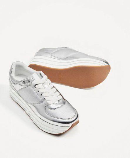 70+ Ideas for sneakers plataforma zara #sneakers | Silver sneakers .