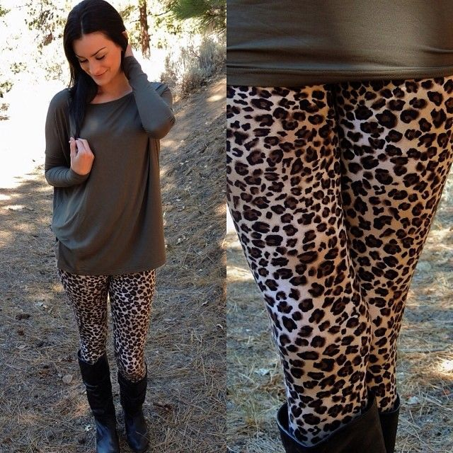 How to Style Leopard print leggings in 2020 | Leopard print .