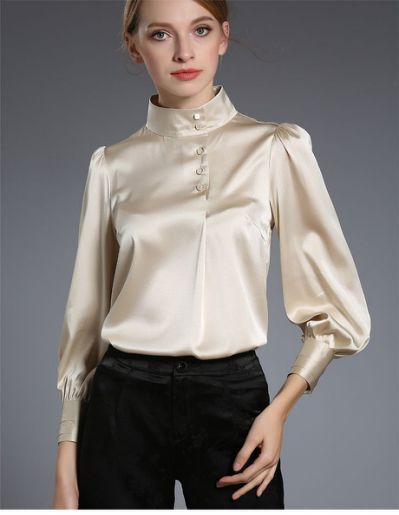 411 best Brown yellow satin blouse | Elegant blouses, Blouse .