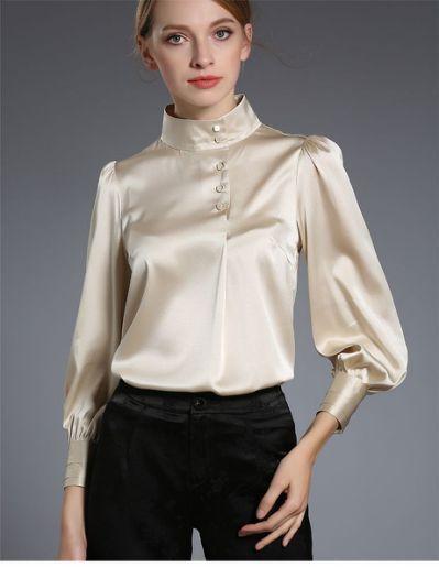 411 best Brown yellow satin blouse   Elegant blouses, Blouse .