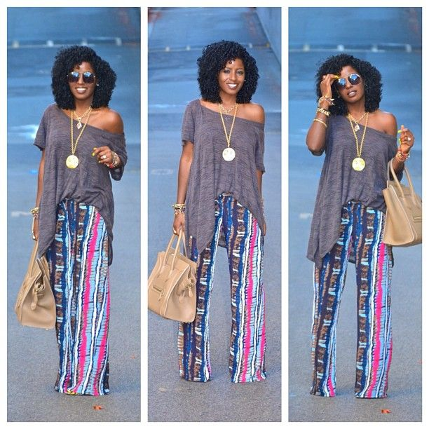 Today's Post: Tribal print pants... | Style, Printed wide leg .