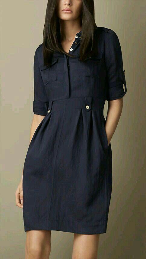 Women's Blue Heritage Tulip Dress | Clothes, Burberry dress, Tulip .