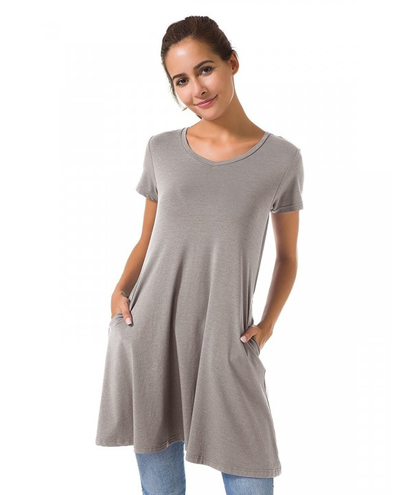 Casual Dress Tunic Dress Tank Dresses With Pockets Loose Dresses .