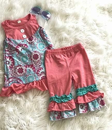 Amazon.com: Paisley Floral Tunic Tank Dress and Ruffle Pants .