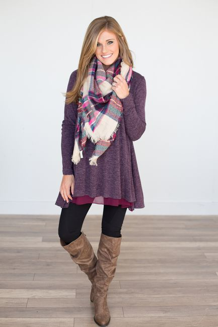 I'm loving the texture of the tunic hem, and the combo with the .