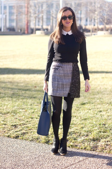 23 Excellent Tweed Skirt Ideas For This Fall - Styleohol