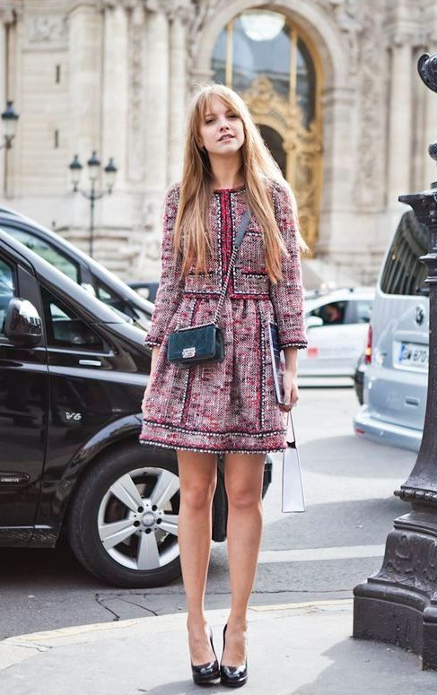 Tweed Dress and Jacket | Fashion, Stylish outfits, Sty