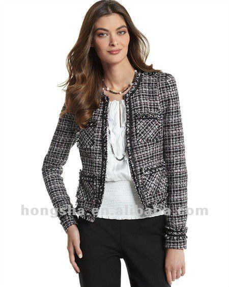 Womens Winter Tweed Jacket For Women Hsc094 - Buy Tweed Jacket .