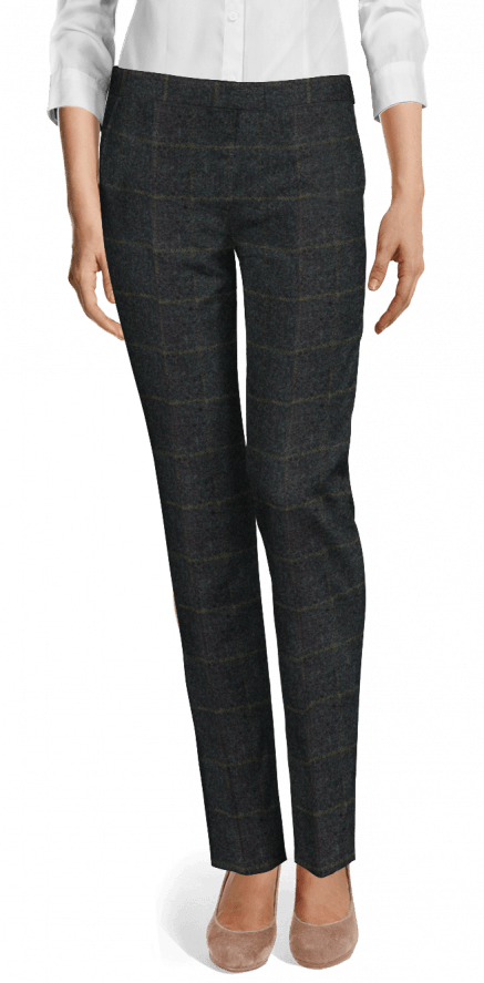 Blue checked tweed Pants $129 - Pittsford | Sumissu