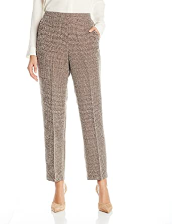 Alfred Dunner Women's Med Check Tweed Pant at Amazon Women's .
