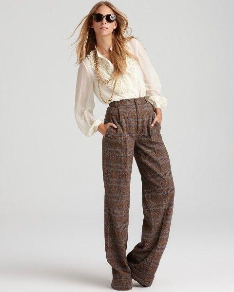 23 Elegant Tweed Pants Outfits For Girls | Tweed pants, Tweed trouse