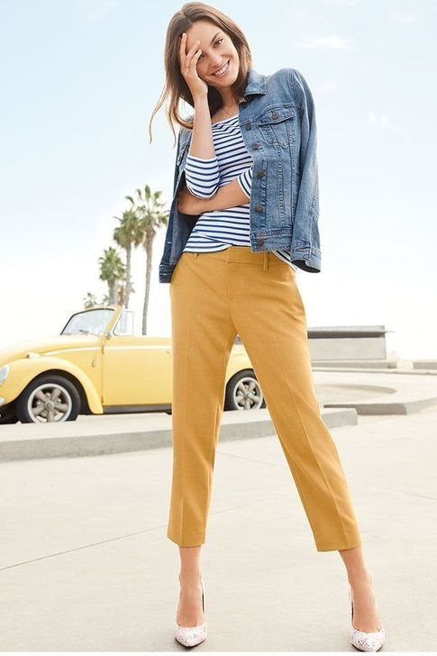 99 Creative Mustard Pants Outfit Ideas | Mustard pants outfit .
