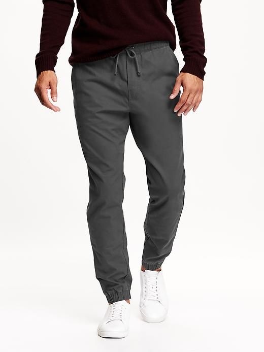 Men's Twill Joggers | Mens joggers outfit, Joggers outfit .