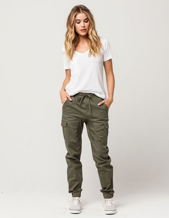 ALMOST FAMOUS Premium Twill Womens Jogger Pants | Fashion joggers .