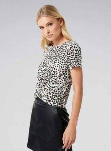 5 Standard Work Outfit Ideas. This soft leopard print twist front .