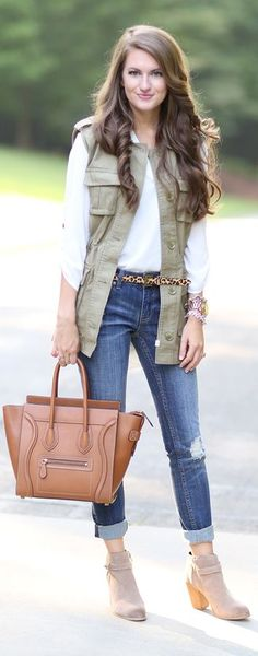 116 Best Green vests images | Autumn fashion, Fall winter outfits .