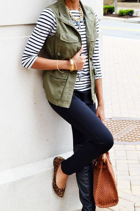 Favorite Olive Cargo Vest Outfits - Nourish | Empower | Fulfill