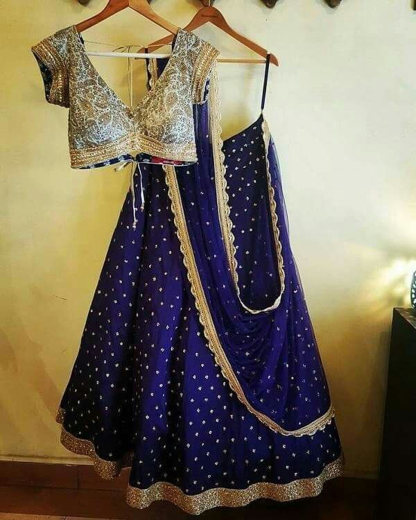 V neck blouse with lehenga and dupatta | Indian outfits, Lehenga .