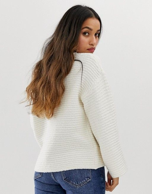 DESIGN Petite slouchy v neck jumper | Outfit ideas | Jumper, V .