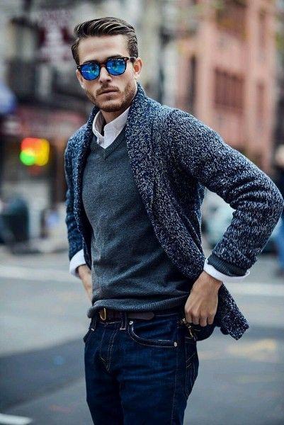 The V-Neck Sweater - Men's Wardrobe Essentials | Trendy fall .