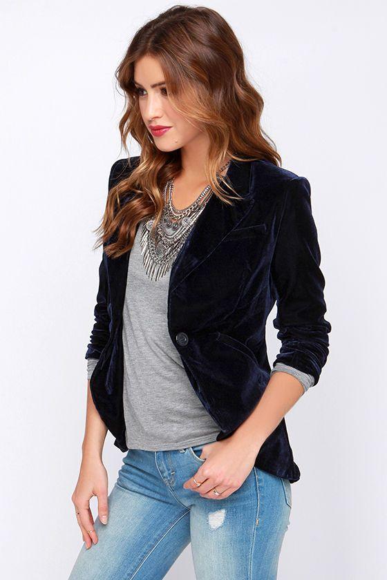 how to wear a purple velvet blazer - Google Search | Velvet jacket .