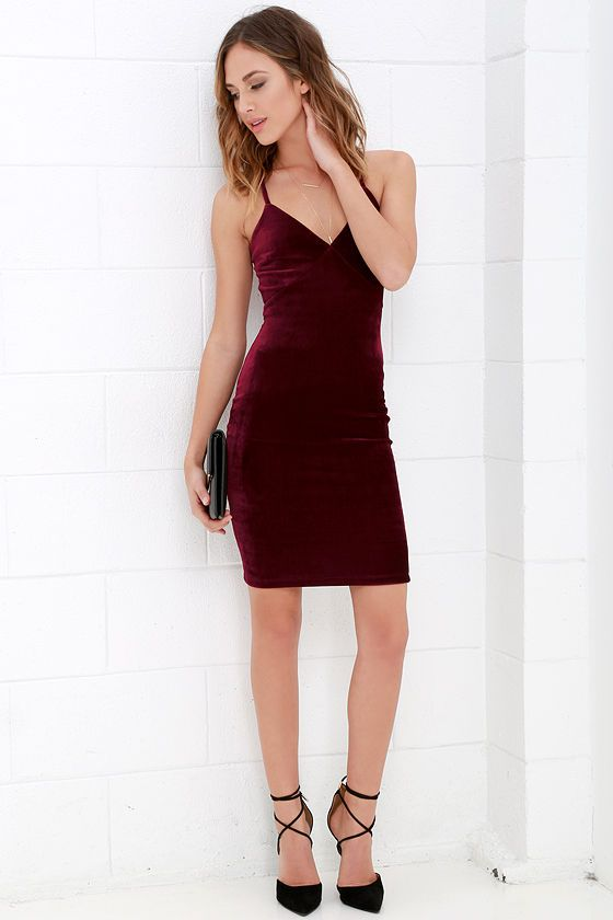 Something Special Wine Red Velvet Dressat Lulus.com! | Red velvet .