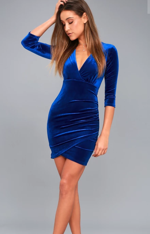 Anything For You Royal Blue Velvet Bodycon Dress | Blue dress .