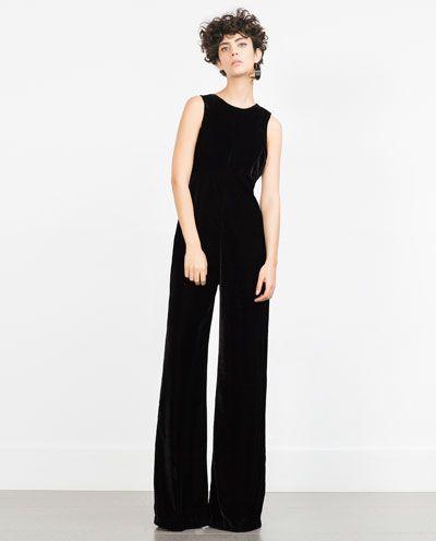 Image 1 of VELVET JUMPSUIT from Zara | Velvet jumpsuit, Zara .