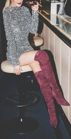 25 Best Burgundy Boots images | Burgundy boots, Autumn fashion .