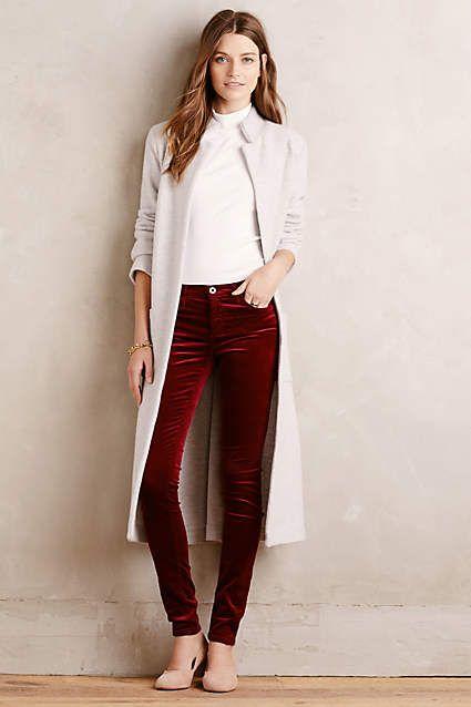 AG Velvet Legging Jeans - #anthrofave | Velvet leggings, Velvet .