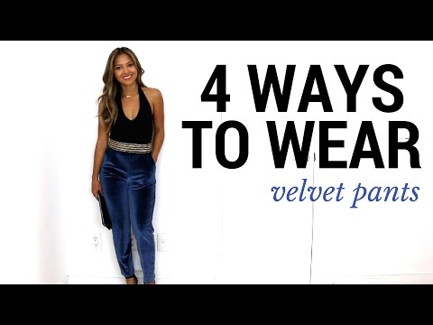 4 Ways To Wear Velvet Pants | How to Style + Lookbook + Outfit .