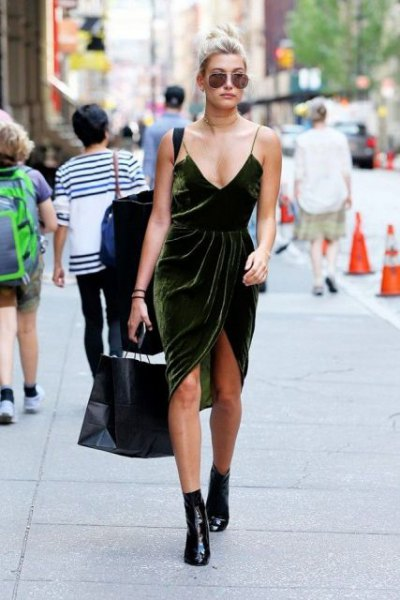 How to Style Velvet Slip Dress: 15 Best Outfit Ideas - FMag.c