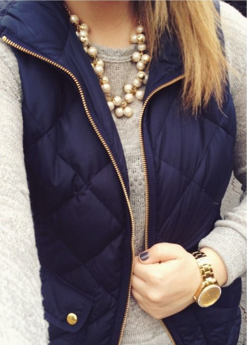 40 Cool Outfit Ideas with Puffy Vest | Autumn fashion, Fall winter .