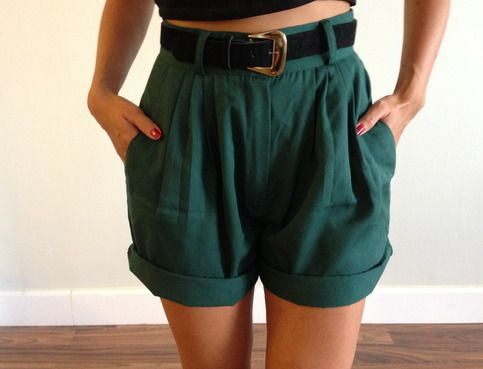 Vintage High Waisted Shorts | Vintage high waisted shorts, Fashion .
