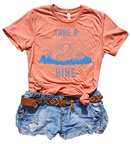 Amazon.com: Take A Hike Shirt Women, Cute Graphic Tees for Women .