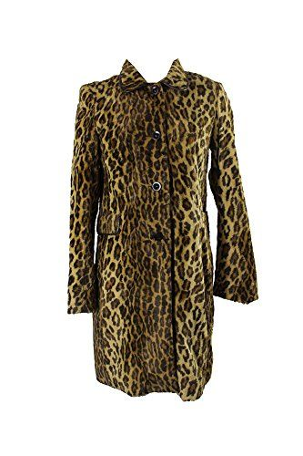 Anonymous Brown Multi Leopard Print Walker Coat M | Clothes for .
